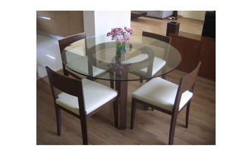 Round Glass Dining Table Design