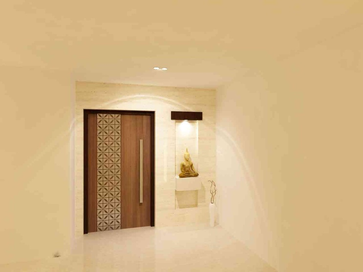 Flat trident towers by samanth gowda architect in for Residential main door design