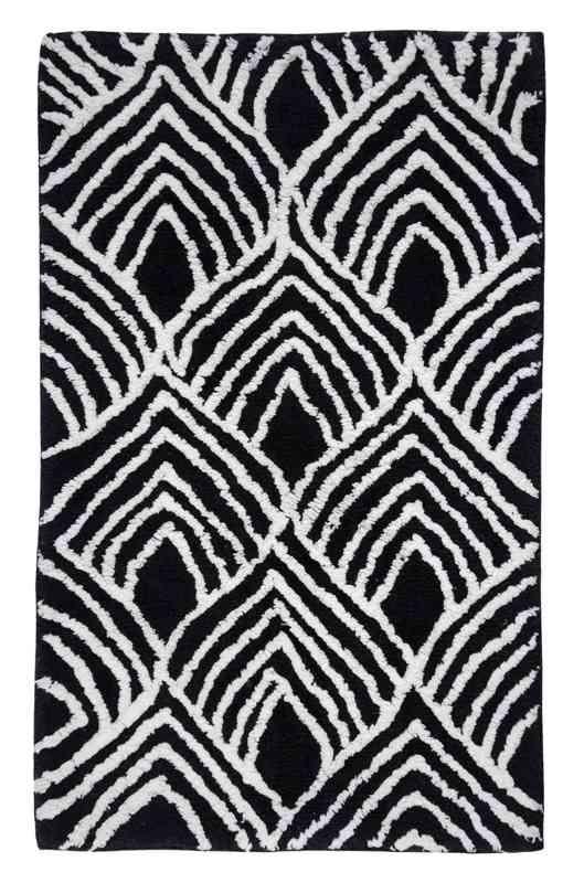 Wonderful Luxurious 100percent Cotton Bath Rug With Modern Geometric Pattern 21