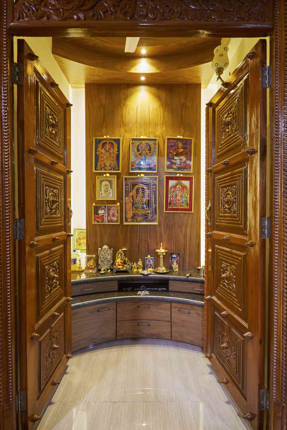 Pooja room door designs interior design inspiration for Room door design for home