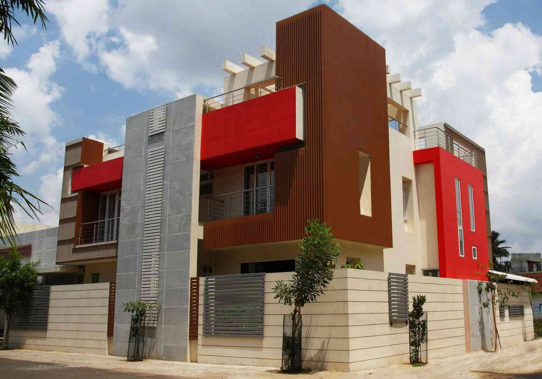 Design firms chennai and project on on pinterest for Exterior home design in chennai