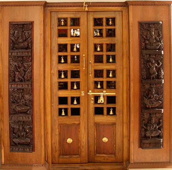 Pooja room door design photos pictures door designs for for Door design photos